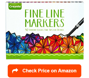 crayola fine line markers adult coloring set