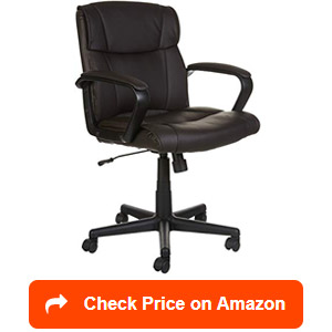 amazonbasics leather mid-back office chairs