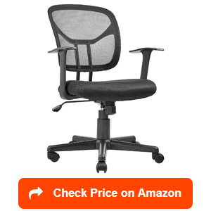 amazonbasics mid-back mesh office chairs