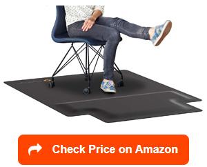 mushyn cushioned foam office chair mats