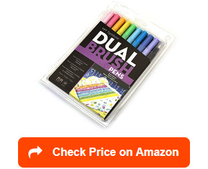 tombow 56187 dual brush pen art markers