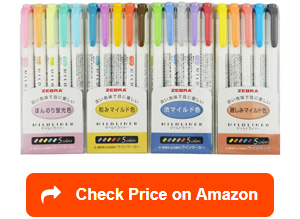 zebra mildliner highlighter pens