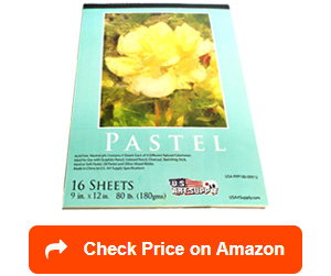 u.s. art supply pastel paper pad