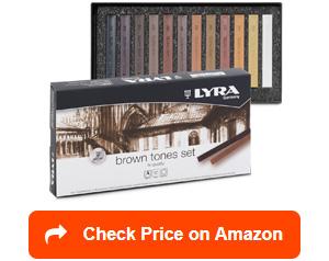 lyra brown tones fine art hard pastels