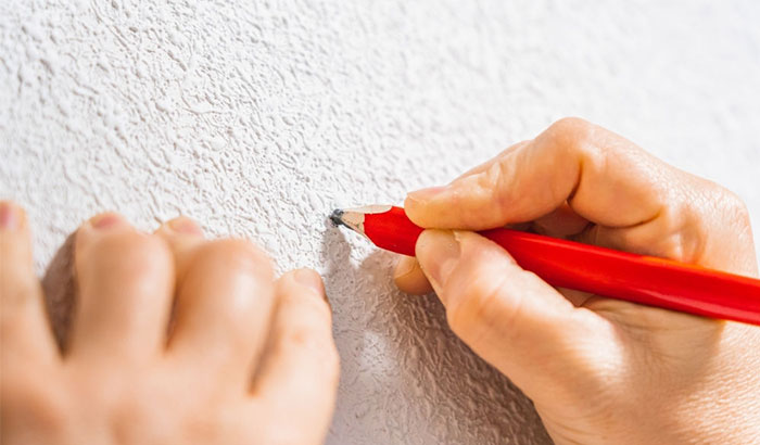 how to remove pencil marks from walls